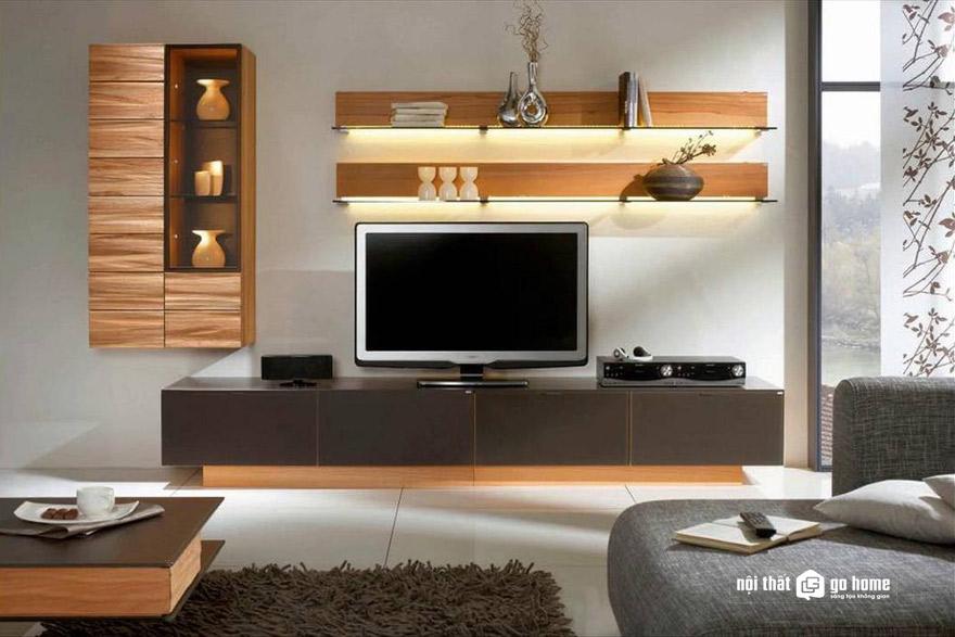 Mua kệ tivi gỗ phòng khách ở đâu?