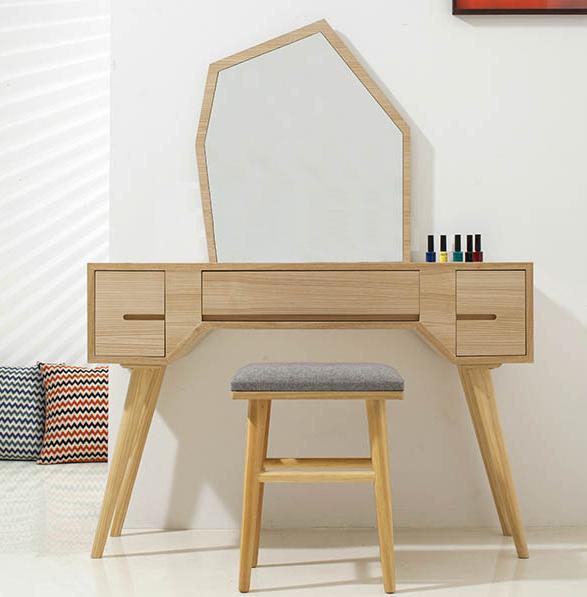 Bàn trang điểm đơn giản làm từ gỗ công nghiệp