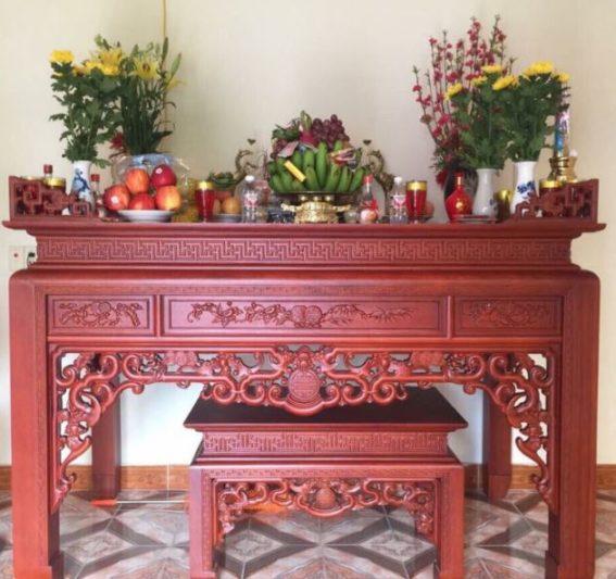 Bày trí nội thất bàn thờ